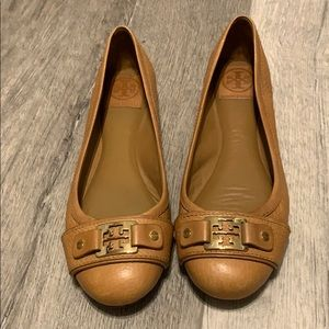 Tan Tory Burch flats